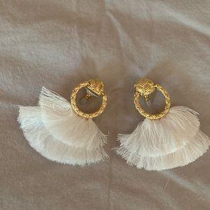 NEW Gold Fringe Post earrings